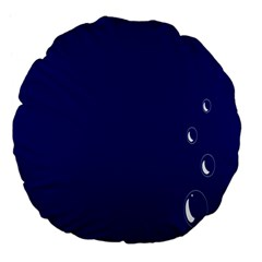 Bubbles Circle Blue Large 18  Premium Flano Round Cushions