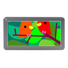 Animals Birds Red Orange Green Leaf Tree Memory Card Reader (mini)
