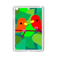Animals Birds Red Orange Green Leaf Tree Ipad Mini 2 Enamel Coated Cases