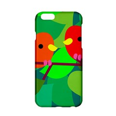 Animals Birds Red Orange Green Leaf Tree Apple Iphone 6/6s Hardshell Case by Alisyart