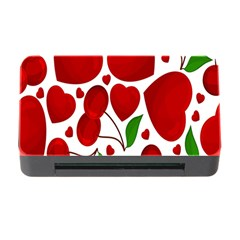 Cherry Fruit Red Love Heart Valentine Green Memory Card Reader With Cf