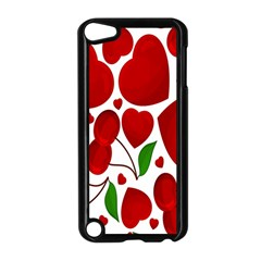 Cherry Fruit Red Love Heart Valentine Green Apple Ipod Touch 5 Case (black) by Alisyart