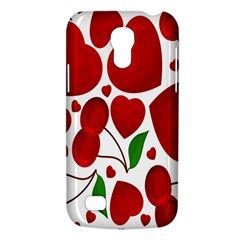 Cherry Fruit Red Love Heart Valentine Green Galaxy S4 Mini
