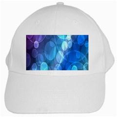 Circle Blue Purple White Cap