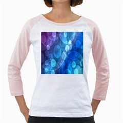 Circle Blue Purple Girly Raglans