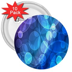 Circle Blue Purple 3  Buttons (10 Pack)