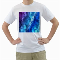 Circle Blue Purple Men s T Shirt (white) (two Sided)