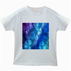 Circle Blue Purple Kids White T Shirts