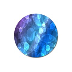 Circle Blue Purple Magnet 3  (round)