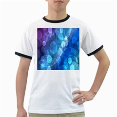 Circle Blue Purple Ringer T Shirts