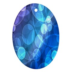 Circle Blue Purple Oval Ornament (two Sides)