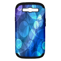 Circle Blue Purple Samsung Galaxy S Iii Hardshell Case (pc+silicone)
