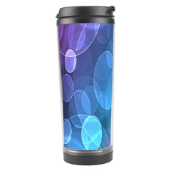 Circle Blue Purple Travel Tumbler