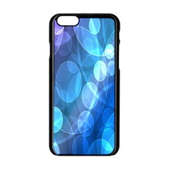 Circle Blue Purple Apple Iphone 6/6s Black Enamel Case by Alisyart