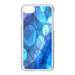 Circle Blue Purple Apple Iphone 7 Seamless Case (white) by Alisyart