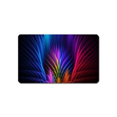 Bird Feathers Rainbow Color Pink Purple Blue Orange Gold Magnet (name Card)