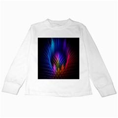 Bird Feathers Rainbow Color Pink Purple Blue Orange Gold Kids Long Sleeve T Shirts