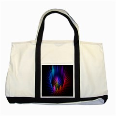 Bird Feathers Rainbow Color Pink Purple Blue Orange Gold Two Tone Tote Bag by Alisyart