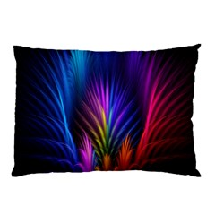 Bird Feathers Rainbow Color Pink Purple Blue Orange Gold Pillow Case