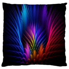 Bird Feathers Rainbow Color Pink Purple Blue Orange Gold Large Cushion Case (one Side)