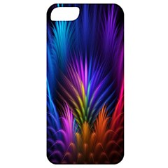 Bird Feathers Rainbow Color Pink Purple Blue Orange Gold Apple Iphone 5 Classic Hardshell Case