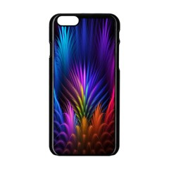 Bird Feathers Rainbow Color Pink Purple Blue Orange Gold Apple Iphone 6/6s Black Enamel Case by Alisyart