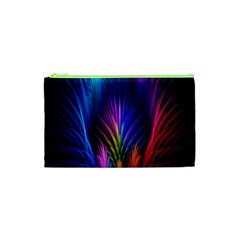 Bird Feathers Rainbow Color Pink Purple Blue Orange Gold Cosmetic Bag (xs)