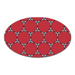 Circle Red Purple Oval Magnet