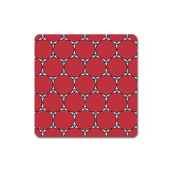 Circle Red Purple Square Magnet