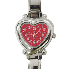 Circle Red Purple Heart Italian Charm Watch by Alisyart