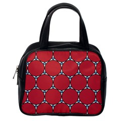 Circle Red Purple Classic Handbags (one Side)
