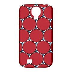 Circle Red Purple Samsung Galaxy S4 Classic Hardshell Case (pc+silicone) by Alisyart