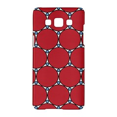 Circle Red Purple Samsung Galaxy A5 Hardshell Case