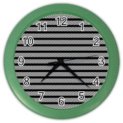 Black White Line Fabric Color Wall Clocks by Alisyart