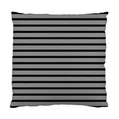 Black White Line Fabric Standard Cushion Case (one Side)