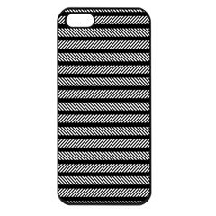 Black White Line Fabric Apple Iphone 5 Seamless Case (black)