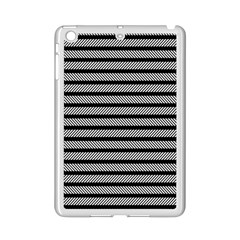 Black White Line Fabric Ipad Mini 2 Enamel Coated Cases