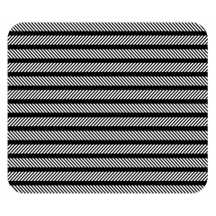 Black White Line Fabric Double Sided Flano Blanket (small)
