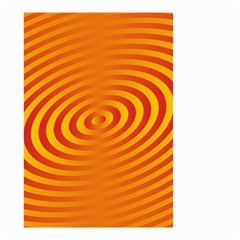 Circle Line Orange Hole Hypnotism Small Garden Flag (two Sides) by Alisyart