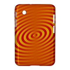 Circle Line Orange Hole Hypnotism Samsung Galaxy Tab 2 (7 ) P3100 Hardshell Case  by Alisyart