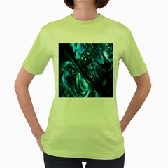 Blue Wave Women s Green T Shirt