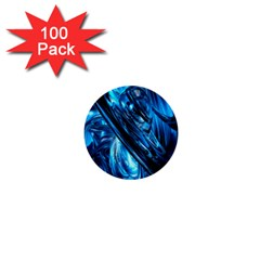 Blue Wave 1  Mini Buttons (100 Pack)