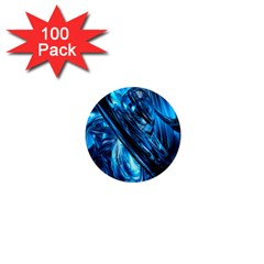 Blue Wave 1  Mini Magnets (100 Pack)