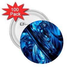 Blue Wave 2 25  Buttons (100 Pack)