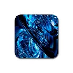 Blue Wave Rubber Square Coaster (4 Pack)