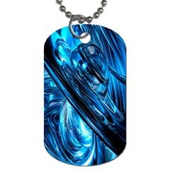 Blue Wave Dog Tag (one Side)