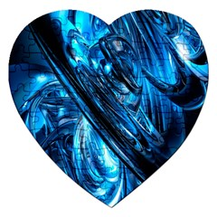 Blue Wave Jigsaw Puzzle (heart)