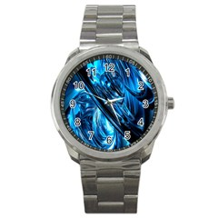 Blue Wave Sport Metal Watch