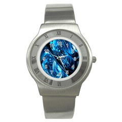 Blue Wave Stainless Steel Watch