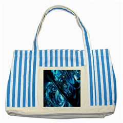 Blue Wave Striped Blue Tote Bag